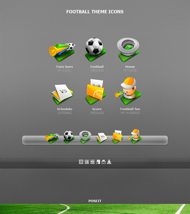 Football Theme icons by poseit