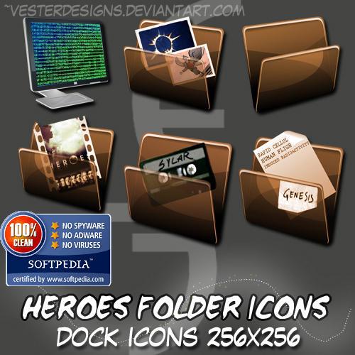 Heroes Folder Dock Icons by vesterdesigns