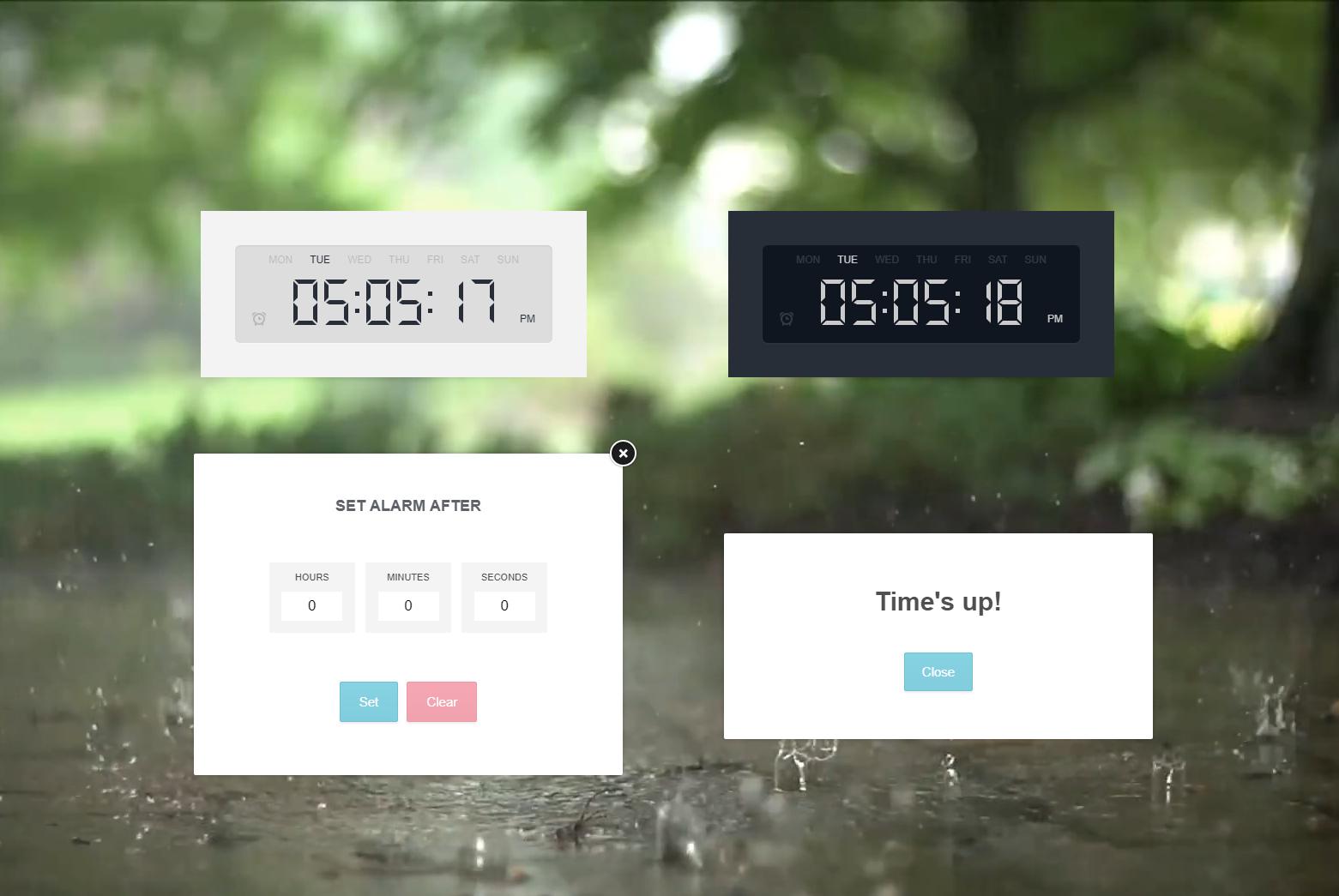 AlarmClock for RainWidget