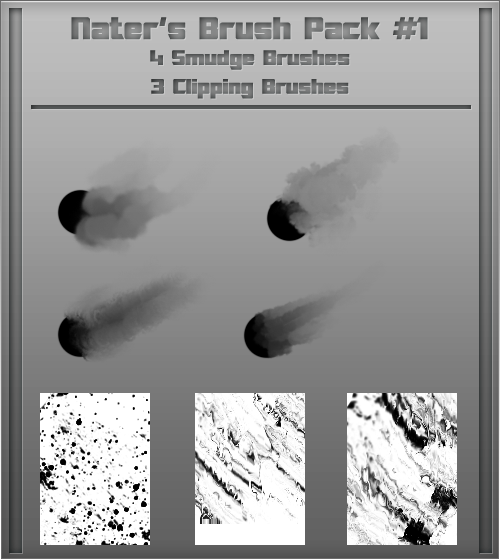 Naters Brush Set #1 (Smudge/Clipping) by Nater360