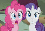 Pinkie Pie and Rarity stunned gif
