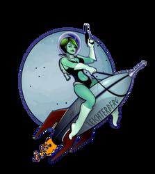 Alien Pin-up Girl