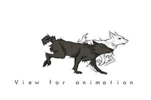 Wolf run cycle by printscreen-kii