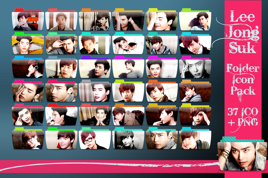 Lee Jong Suk Folder Icon Pack by Rizzie23