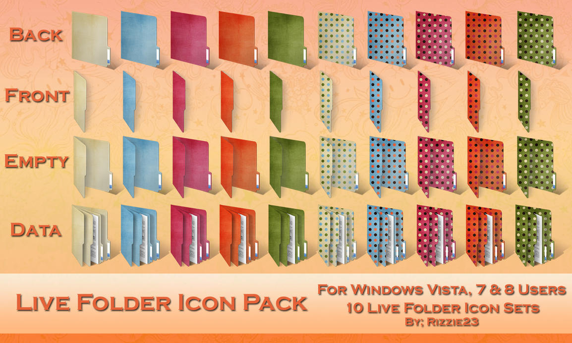 Windows Live Folder Icon Pack 1 by Rizzie23
