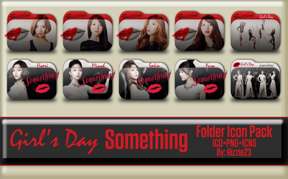 Girl's Day Something Folder Icon Pack by Rizzie23