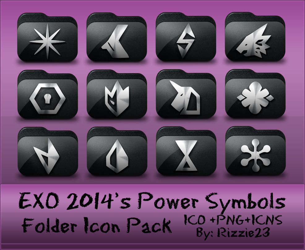 Exo 2014s Power Symbols Folder Icon Pack By Rizzie23 On Deviantart