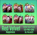 Red Velvet Happiness Folder Icon Pack