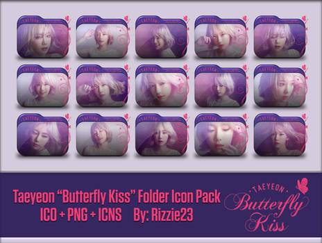 Taeyeon Butterfly Kiss Folder Icon Pack