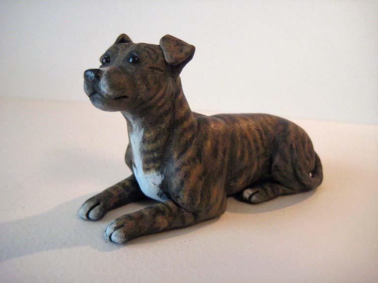 brindle pitbull sculpture by WhiteK9 on DeviantArt