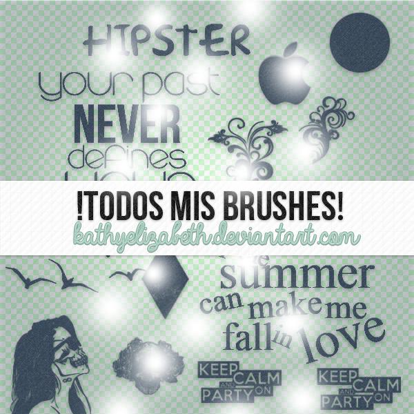 TODOS Mis Brushes! by KathYElizabeth