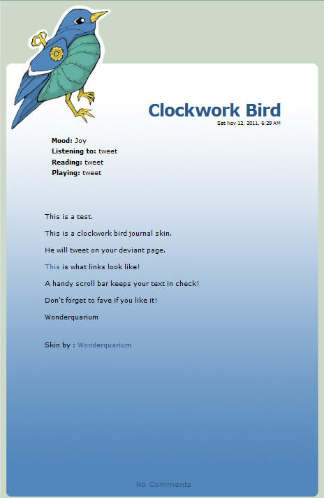 Clockwork Bird by Wonderquarium