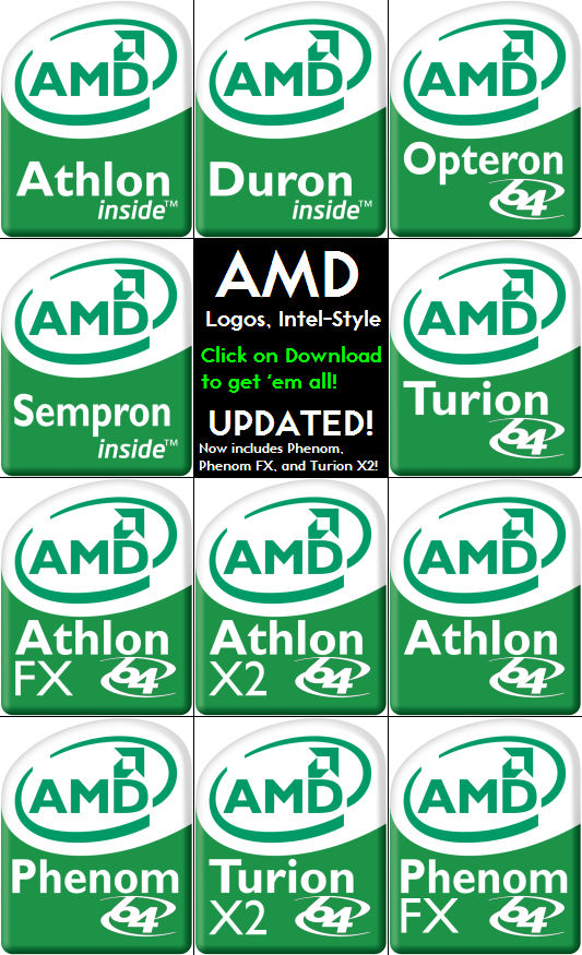 Amd Logos Intel Style Ver 2 By Thesuigi On Deviantart