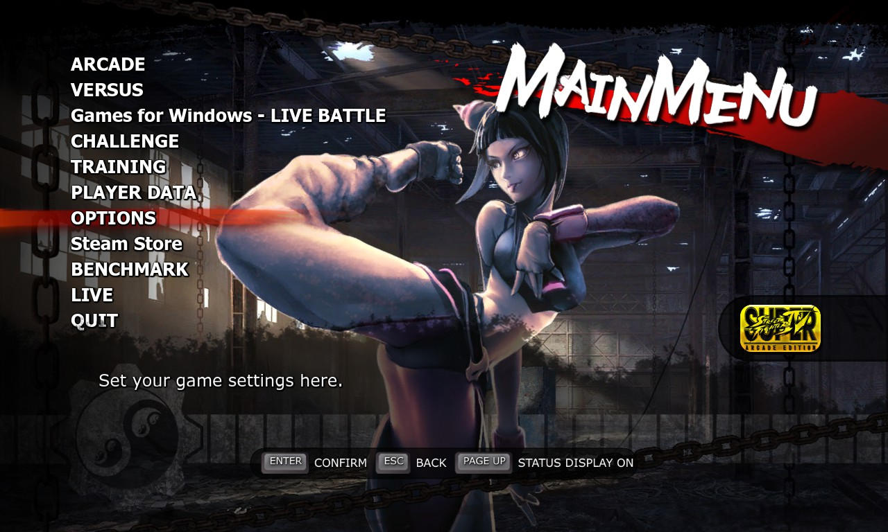SSF4 AE Juri Menu by Augh