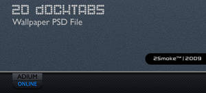 DockTabs SE PSD Wallpaper by neodesktop