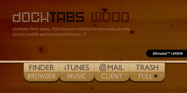 DockTabs WOOD by neodesktop