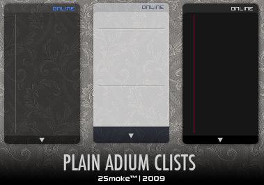 Plain Adium Clists by neodesktop