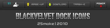 BlackValvet Dock Icons by neodesktop