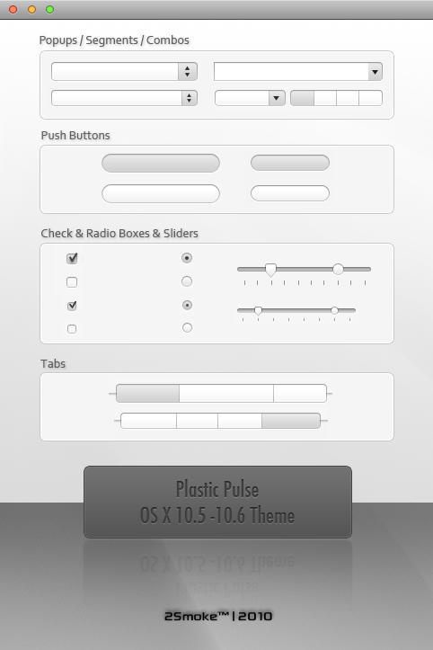Plastic Pulse OS X Theme by neodesktop