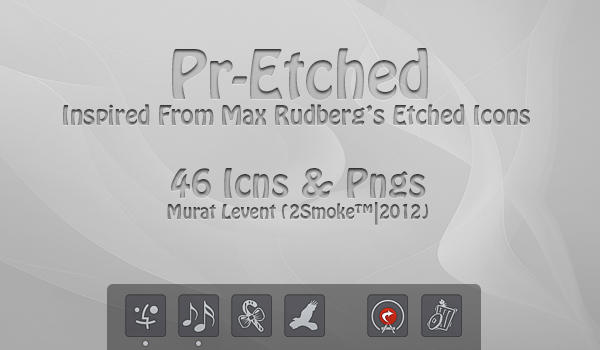 Pr-Etched Dock Icons by neodesktop