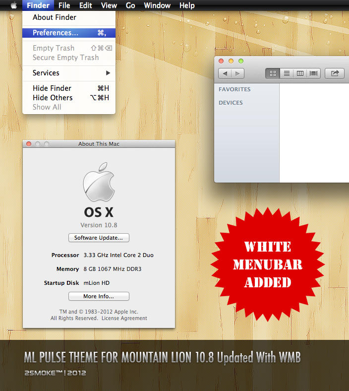 ML Pulse Theme For Mountain LION V2 by neodesktop