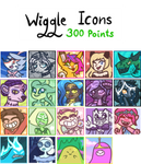 Wiggle Icons - 300 Points - OPEN