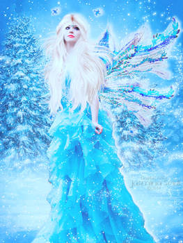 Winter Fairy with Snow Animation