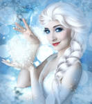 Frozen Elsa - Animated Snowfall