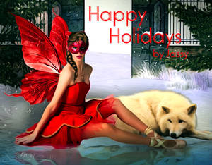 Happy Holidays - Animated Snow
