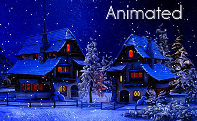 It is snowing in the Village - animated