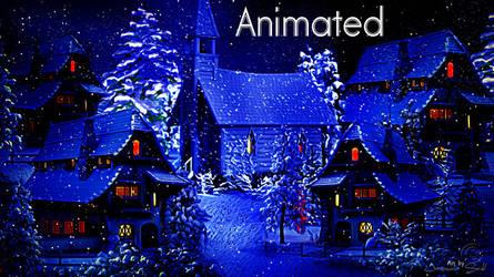 Winter Village - Snow Animated