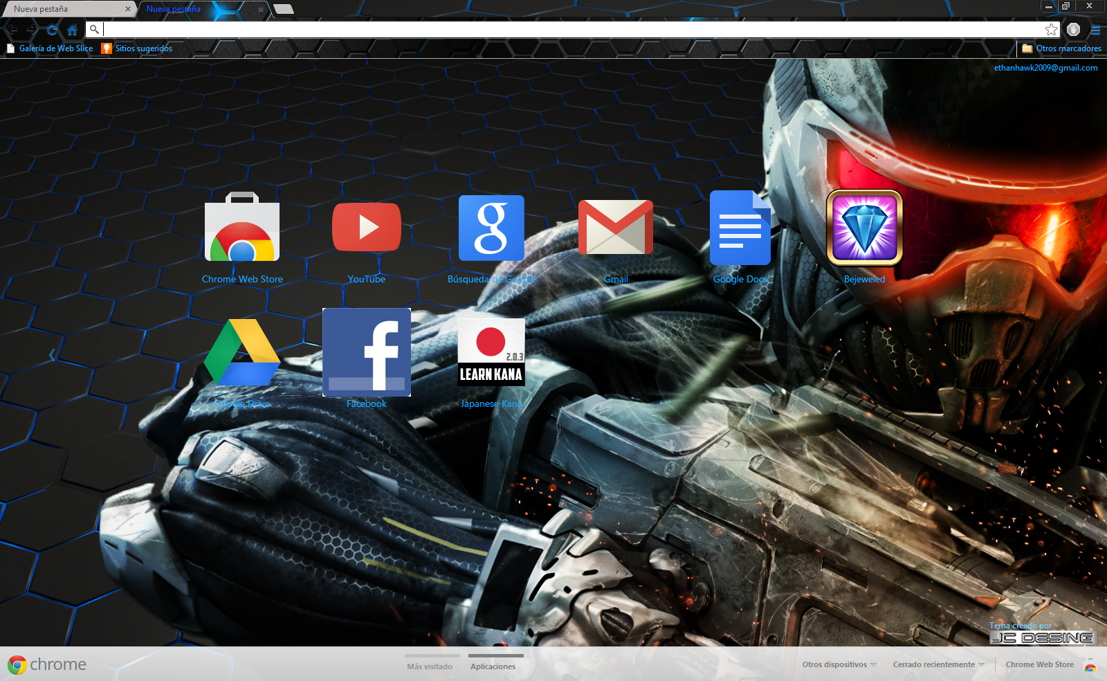 Google chrome themes video games -  Crysis Theme For Google Chrome By Jhonconnor
