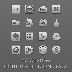 47 Custom Light Token Icons Pack by esnooze