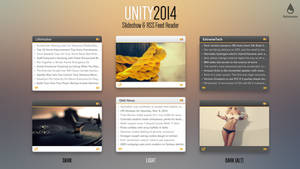 UNITY2014 Slideshow and Feed Reader for Rainmeter by esnooze