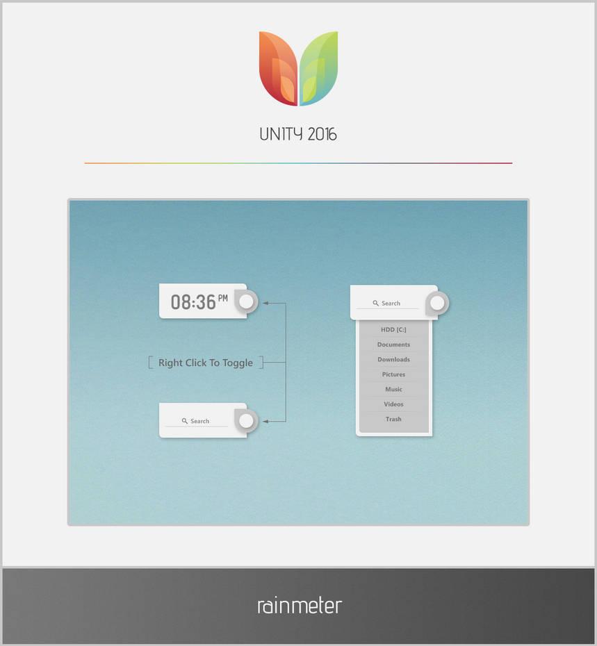 UNITY 2016 - Rainmeter by esnooze on DeviantArt