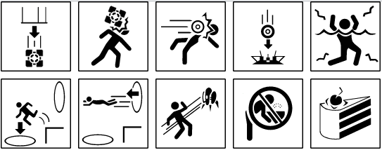 Portal Warning Signs In Svg By Zabouth On Deviantart