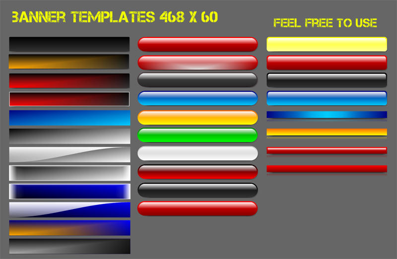 banner templates 468 x 60 by Remes58 on DeviantArt