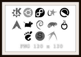 Linux icons PNG by gustawho