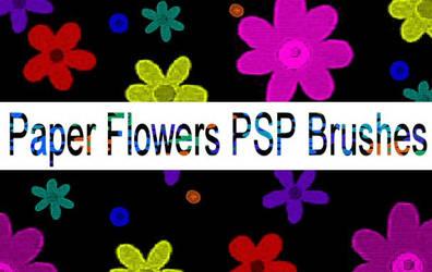 Paper Flowers PSP Brushes