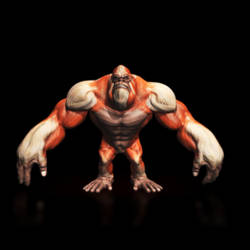 Monster Ape Rig + Render Test by FoxHound1984