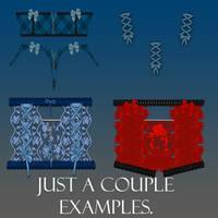 SecondSkins Clothes for V4 PSD files by WyckedDreamsDesigns