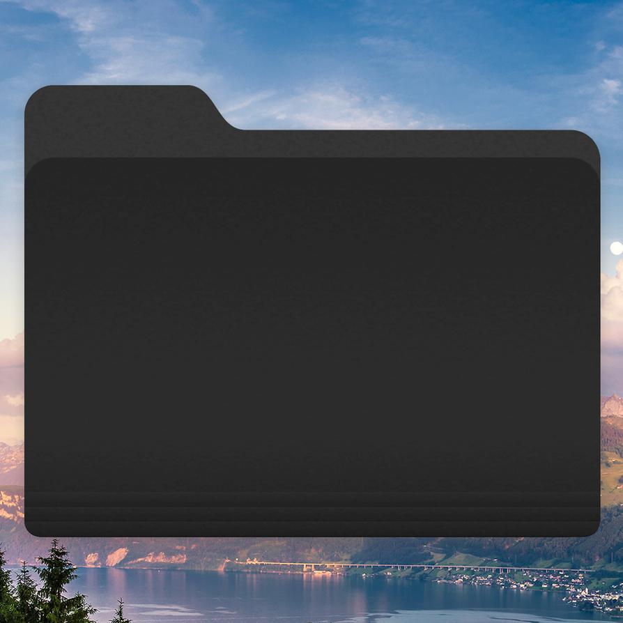 Osx Yosemite: OS X Yosemite Black Folder Icon By Djtech42 On DeviantArt