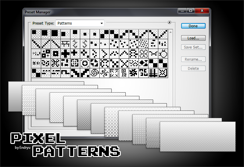Simple pixel patterns by Endryu