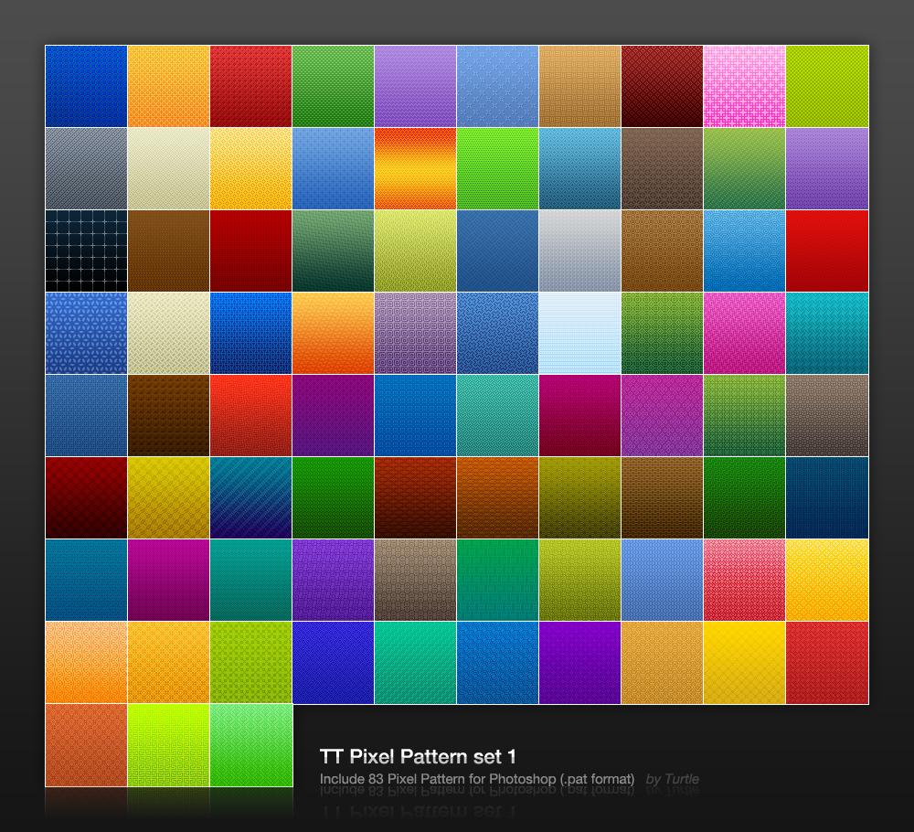 TT-Pixel-Pattern set 1 by TurtleKuo