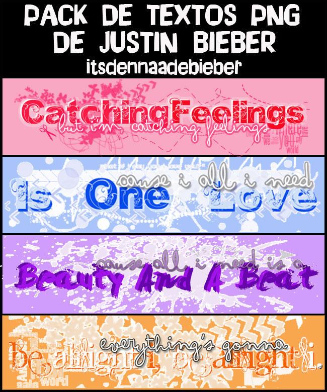 Pack de textos png de Justin Bieber. by ItsDennaaDeBieber