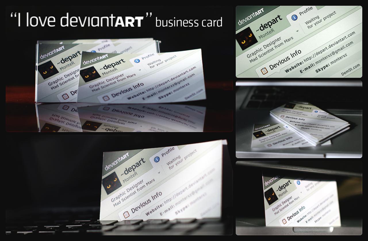 i love dA business card by monterxz