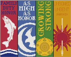 Game of Thrones Bookmarks- Cross Stitch Patterns 2