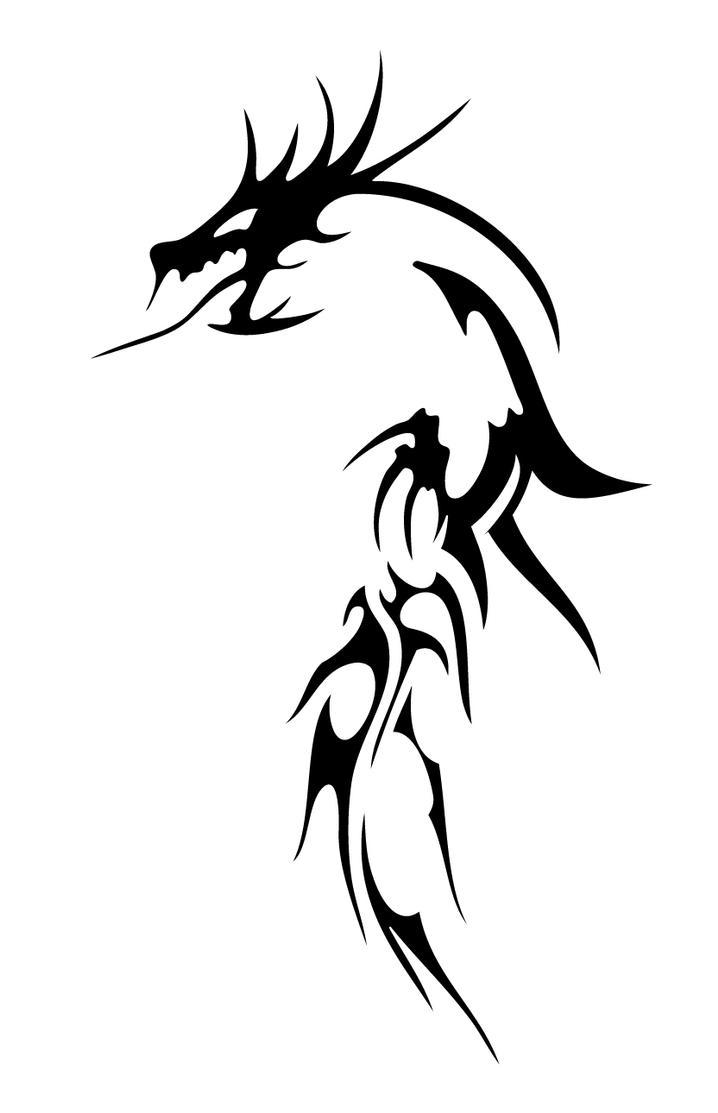 Welsh dragon tattoo designs - Tribal Dragon Tattoo Designs Picture 7