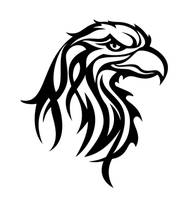 Tribal Eagle Head by pixelworlds