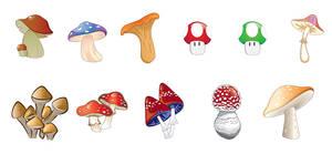 Mushroom Vector Pack